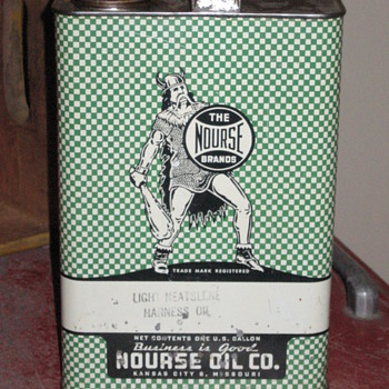Nourse Brand Oil Can - Petroliana