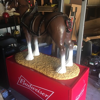 Clydesdale horse display.  - Breweriana