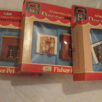1978 FISHER-PRICE DOLLHOUSE DECORATOR SETS FACTORY SEAL MINT
