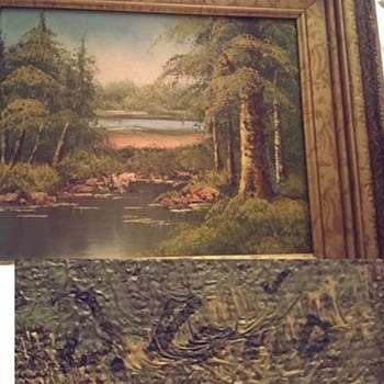 Oil Painting signed D. R????