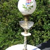 Victorian French Champleve Oil Lamp