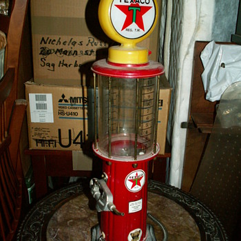 Texaco mini gas pump - Petroliana