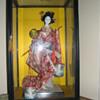 Japanese Geisha Doll w/ water buckets
