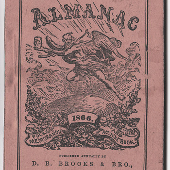 Browns Almanac 1866 diary - Books