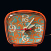 Early 70s Psychedelic Orange GE Alarm Clock
