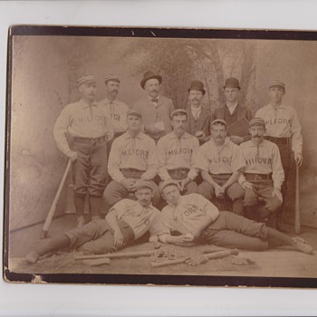 Another Early Milford NH Baseball Team Cabinet Photo - Photographs