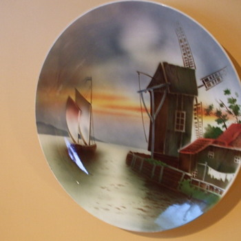 WWII Souvenir Brought Home  Dec. 1 1945 Large VILLEROY & BOCH PLATE - Pottery