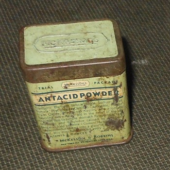 McKesson's Antacid Powder Tin - Advertising