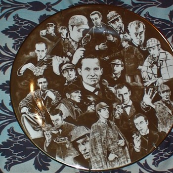 Portrayals Of Sherlock Holmes Plate Dierdre Keetley - China and Dinnerware