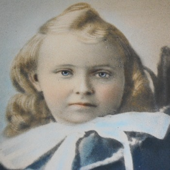 Colored photograph Of Young Boy, Late 19th-Early 20th Century