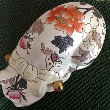 "9"" porcelain sleeping cat"