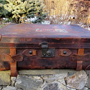 Vintage/Antique? Leather Suitcase - Bags