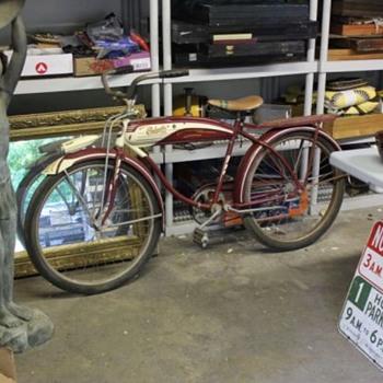 Late 40's Columbia 3-Star Deluxe Tank Bike * Original Paint