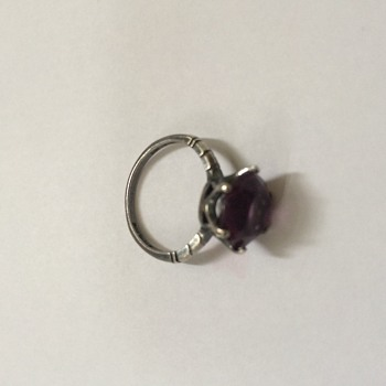 Antique Silver and Amethyst Ring - Fine Jewelry