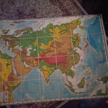 4rth Edition Goode Physical Eurasia Wall Map Series - Paper