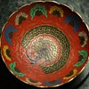 Enamel Brass Bowl from India - with Peacocks!