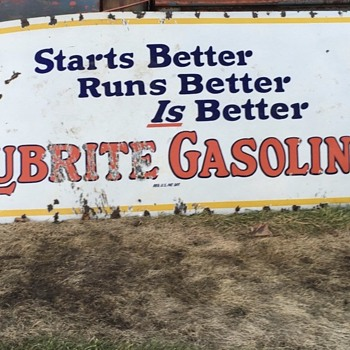 Lubrite Gasoline Sign - Signs
