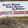 Lubrite Gasoline Sign