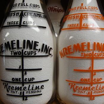 KREMELINE SALESMAN SAMPLE QUART MILK BOTTLES...STATE OF WASHINGTON - Bottles