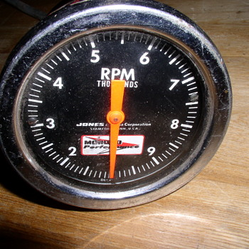 JONES Cable driven TACH early MOROSO gasser race car tachometer - Accessories