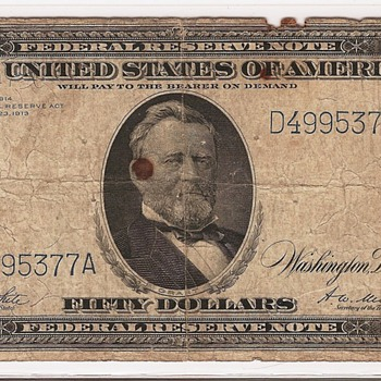 Favorite $50! 1914 FRN