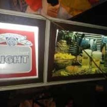 Budweiser sign lighted - Breweriana