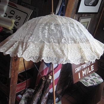 Mrstyndall Wife's Parasol Shoes and Fan  - Womens Clothing