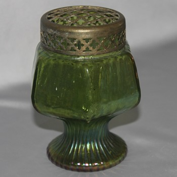 Green Footed Vase - Art Glass