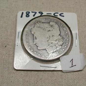 1879 CC silver dollar