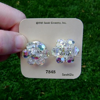 Vintage Sarah Coventry Earrings - Sparkling Crystals - Costume Jewelry