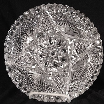 Great American cut glass 7 inch plate. Signed! - Glassware