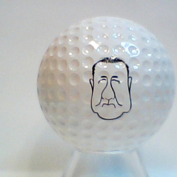 The infamous also get their name's on golf balls.