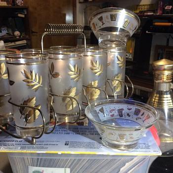 Gold leaves  - Glassware