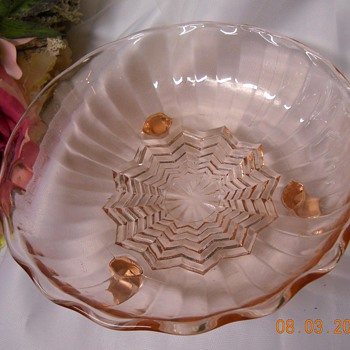 Pink Candy Dish and Green Depression Glass Jar ?  - Glassware