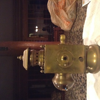 Turn of the Century brass lamps