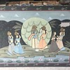 Old Large 4'x 3' Silk Painting Unknow, if it's PICHWAI  ? Persian?? who are the images????  Any Help Appreciated !!!