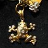 Tree Frog diamond with the emerald eyes Pendant