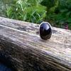 Bristol Blue Colored Glass & Sterling Ring, Flea Market Find $3.00