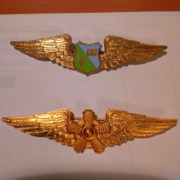 Some of my Dad's Air Force badges - Military and Wartime