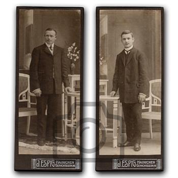 Old photographs collection: Studio portraits with Art Nouveau furniture I