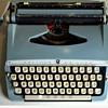 Brother delux light blue 1960-1970 working typewriter