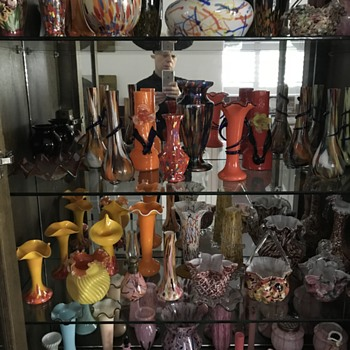 Another cabinet of glass... - Art Glass