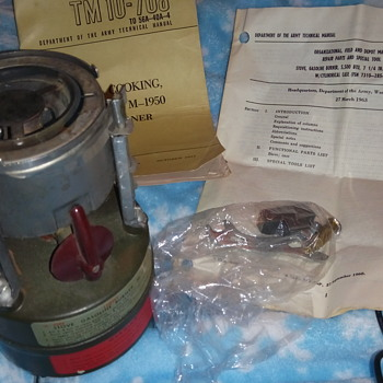 Army military one burner cook stove from 1963 - Kitchen