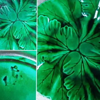 A Green Leaf Plate - China and Dinnerware