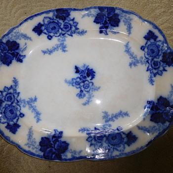 Help identify Messina England Flow Blue Platter Mark or Age