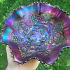 Fabulous Northwood Grape and Cable Amethyst Plain Back Bowl