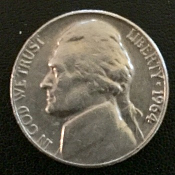 1964 Jefferson Nickel no mint mark need information