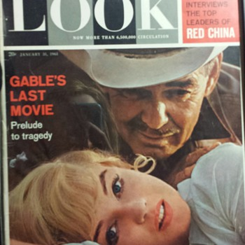 LOOK MAGAZINE Januay 31 1961 CLARK GABLE MARILYN MONROE RED CHINA