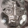 Scandinavian Glass Face~Pipe Ashtray?~Thick, Vintage, Beautiful & Interesting