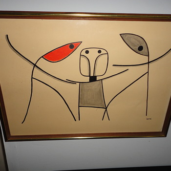 Abstract Drawing Signed Leon - Fine Art